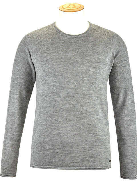 Alchemy M's 14 Gauge Merino Long Sleeve Crew Shirt Grey Marle